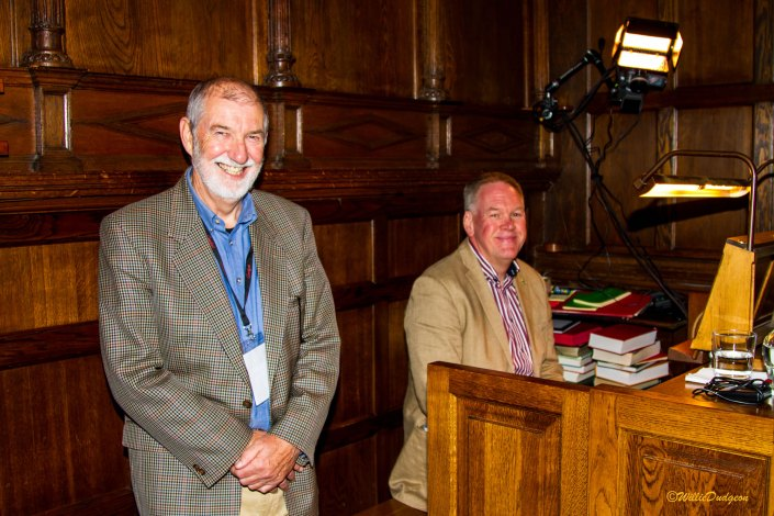 Goosfest's Roger Burgess and guest organist George Robie